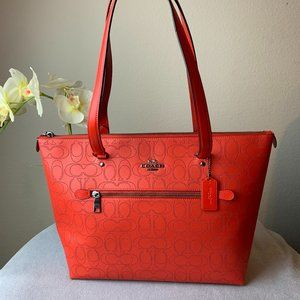 COACH GALLERY TOTE IN SIGNATURE LEATHER